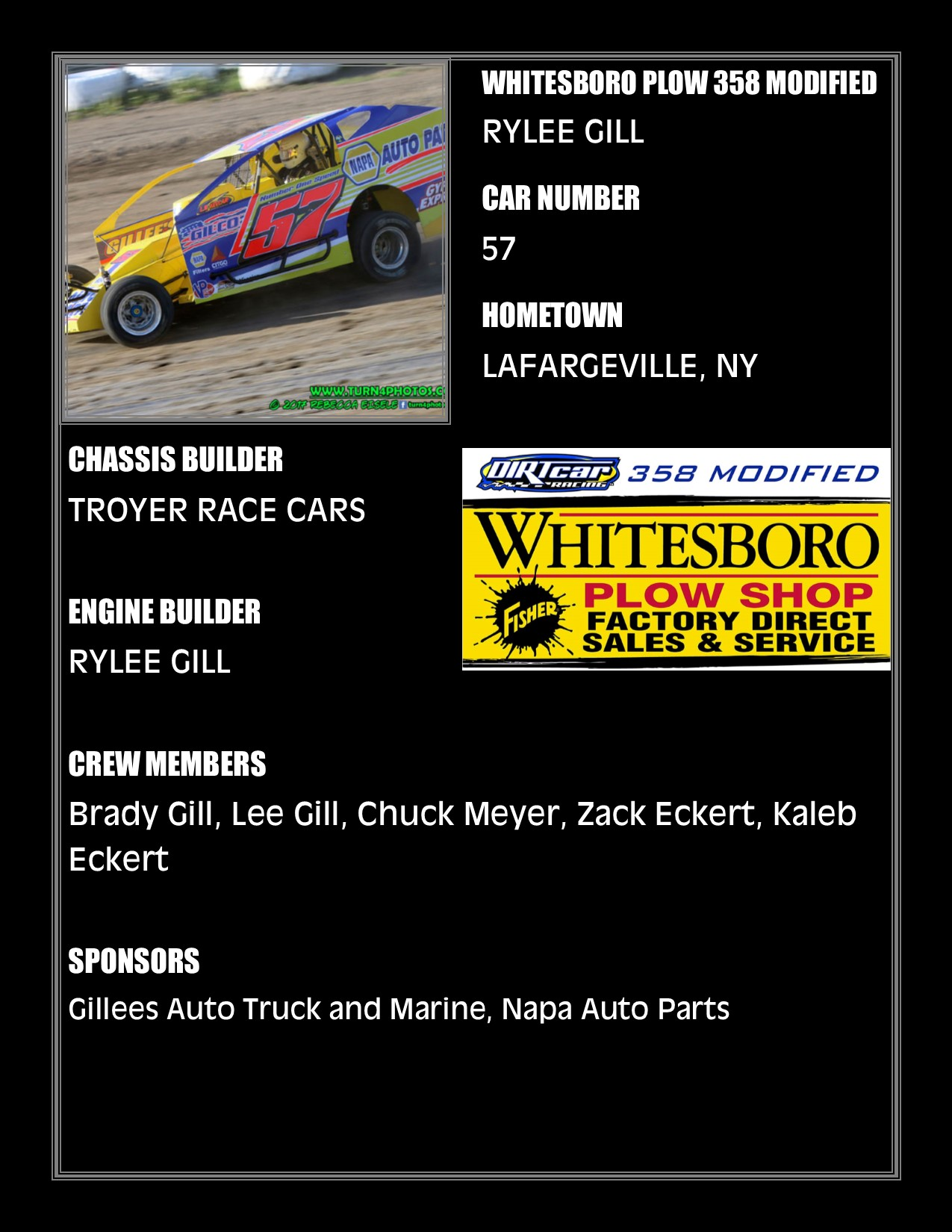 Roster: 358-Modified – Can-Am Speedway – LaFargeville, NY – www
